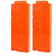 2pcs Clips De Bala Suaves 12 Balas Para Nerf N-strike Pistola Juguete - Naranja