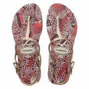Havaianas Freedom Print Sandals White Size 3-4