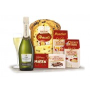 Cos de Craciun Natale in Festa Panettone 5 piese made in Italy