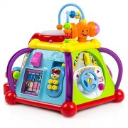 rolimate Multi-Function Educational Kid's Learning Games Toys, Activity Cube Play Center with Driving/Cell Phone/Music/Tools/Micphone/Doorbell/Lighting Drum/etc, Suit for Kids More Than 18 Months