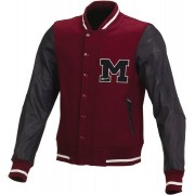 Macna College Textile Jacket Black Red XL