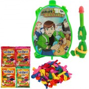 Holi Water Pichkari BACK PACK CARTOON Tank Squirter F3 With Gulal Ballloons Assorted Color