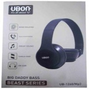 BEAST SERIES CRYSTAL SOUND BIG BASS HEADPHONE (UB-1260)