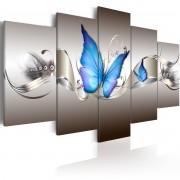 Tableau Papillons bleus