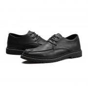 Ronde hoofd comfortabele casual schoenen voor mannen (kleur: zwart maat: 43)
