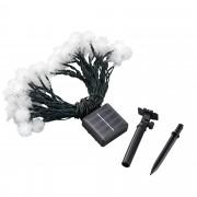[in.tec] Cadena de luces - energía solar - 50 LED - luces de Navidad - blanco frío