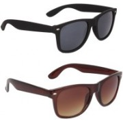 David Martin Wayfarer Sunglasses(Black, Brown)
