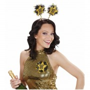 Geen Diadeem Happy New Year goud