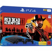 Consola Sony PS4 Slim 1TB cu joc Red Dead Redemption 2 si extra controller