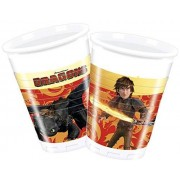 Unique 200ml How To Train Your Dragon Plastic Cups, Pack of 8