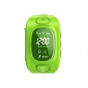 Ceas inteligent pentru copii GW300 Verde cu telefon localizare GPSWiFi si monitorizare spion