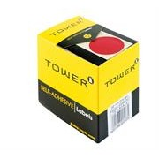 Tower Round Labels Roll 250 Red Dot, Retail