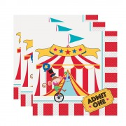 Circus Party Napkins (Pack of 16)