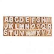 R H lifestyle Colourful Wooden Letters Alphabets Set (of 6 Each) - Wooden Craft Letters with Storage Tray - Wooden Alphabet Letters Kids Learning Toy - (Colour, Small)
