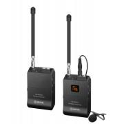 Sistem wireless Boya BY-WFM12 cu Microfon lavaliera Transmitator si Receiver
