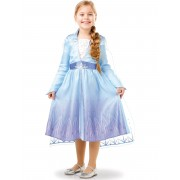 Vegaoo.es Disfraz clásico Elsa Frozen 2 niña - 7 a 8 años (117 a 128 cm)