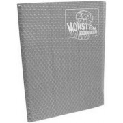 Monster Binder 9 Pocket Trading Card Album Holofoil Silver (Anti Theft Pockets Hold 360+ Yugioh, Pokemon, Magic The Gathering Cards)