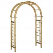 vidaXL Arco em treliça madeira de pinho impregnada verde