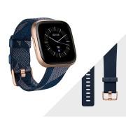Fitbit pametni sat Versa 2 Special Edition Navy & Pink Woven Band/Copper Rose Aluminum Case