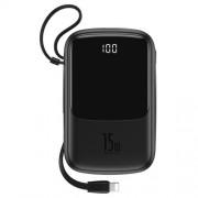 Acumulator Extern Huawei Samsung iPhone Asus LG Power Bank Baseus 10000mAh Negru