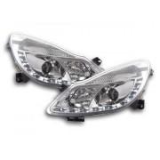 FK-Automotive faro luci di marcia diurna Daylight Opel Corsa D anno di costr. 06- cromato