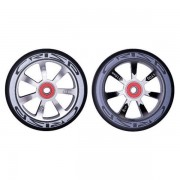 Crisp Hollowtech 100mm Wheel - Silver & Black Core/Black PU (2 Pack)