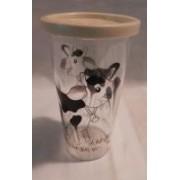 Bambi műanyag pohár, légmentesen záródó vajszín (125)