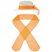 McBURN Do It Yourself Cravatta Cappello by McBURN in arancia, Gr.