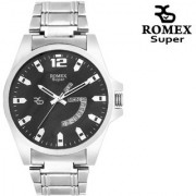 Romex Super Day N Date Analog Black Dial Mens Watch- Dd-11Blk