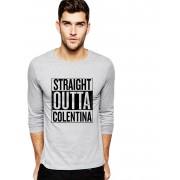 Bluza barbati gri cu text negru - Straight Outta Colentina