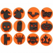 Merkloos Halloween foam stempels 12 stuks