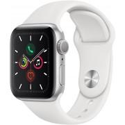 Apple Watch Series 5 40mm stříbrný hliník s bílým sportovním řemínkem