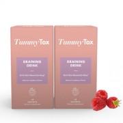 TummyTox Draining Drink Tummy Tox: efeito de emagrecimento rápido. Bebida com sabor a framboesa 2x 10 saquetas