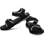 Terravulc Men Black, Grey Sports Sandals