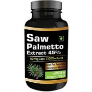 Perennial Lifesciences 100% Pure Saw Palmetto (Serenoa Repens) Extract 60 veg capsules 450mg ( for hair growth )