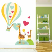 Sticker decorativ Girafe indragostite - 98 x 113 cm