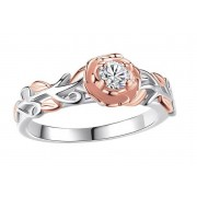 GameChanger Asso T/A Gemnations £9.99 instead of £49.99 (from Gemnations) for a rose gold and silver crystal flower ring - save 80%