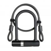 Lock AXA Newton Mini 150/14 + kábel 100/8 kulcs fekete 59502795SS