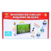 Planet of Toys Learning Science Integrated Electronic Circuit Building Blocks (115 Pieces)