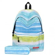 School Backpack for Girls, DIMY Star Clouds Striped School Backpack for Young Girl Kids Nice Prime Fashion Lightweight Travel Primary Zippers Bags 8 Years Old Blue DS08