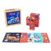 Cars - Puzzle cuburi lemn, 9 piese