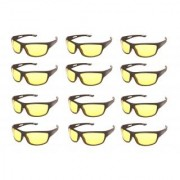 Night drive vision yellow driving glasses (set of 12)