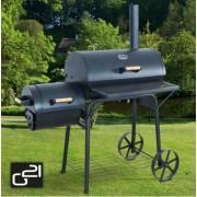 Kerti grillsütő és füstölő, két kamrás, BBQ Big, 6390302