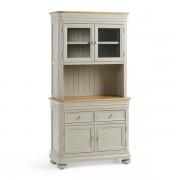 Oak Furnitureland Natural Oak and Painted Dressers - Small Dresser - Brindle Range - Oak Furnitureland