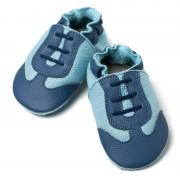 Pantofi cu talpa moale Liliputi Blue Sport