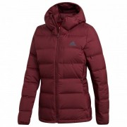 adidas - Women's Helionic Hooded Jacket - Doudoune taille S, rouge/violet