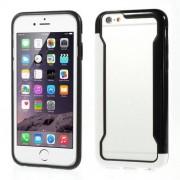 DUO szilikon védő keret - BUMPER - FEHÉR / FEKETE - APPLE iPhone 6