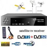 Alician Smart Digital TV Receptor DVB-T2+DVB-S2 FTA 1080P Decodificador Sintonizador MPEG4 Accesorios Electrónicos