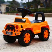 GoodLuck Baybee Kids Ride On Jeep Push Car for Toddlers Baby Jeep Toy Children Rider & Infant Baby Jeep Power Wheel Toys | Kids Suitable for Boys & Girls(1-2 Years)(Orange)