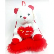 MS SONS & GIFT ARTS RED TEDDY (SET OF 1) Soft Stuffed Spongy Huggable Cute Teddy Bear Birthday Gifts Girls Lovable Special Gift High Quality Birthday/Valentine/Wedding/Friendship/Car Dcor/Hanging/General